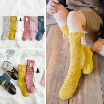 Kids Girl Knee High Socks Stocking Cotton Baby  Girl Leg Warm Leggings
