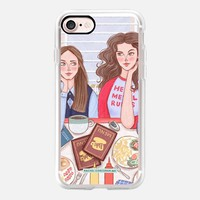 Gilmore Girls in Lukes Diner - TV Show Food Coffee Illustration by Rachel Corcoran - Rachillustrates iPhone 7 Case by Rachel Corcoran | Casetify