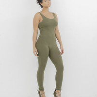 KNIT FIT JERSEY CATSUIT - GREEN