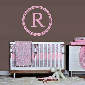 rvz1107 Wall Decals Sticker Bedroom Kids Nursery Baby Custom Name Monogram Personalized Sign Words