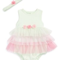 Infant Girl's Little Me Sleeveless Bodysuit & Headband