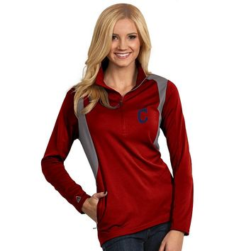 Antigua Cleveland Indians Delta 1/4-Zip Pullover - Women's, Size: X LARGE (Red)