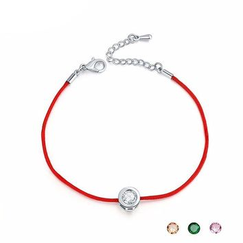 Red String Rope Small Handmade Crystal Bracelets