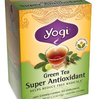 Yogi Teas Green Tea, 16 Tea Bags (Pack of 6), Super Antioxidant