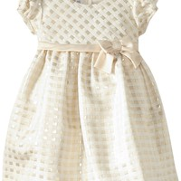 Bonnie Jean Little Girls' Metallic Yarn Dye Check