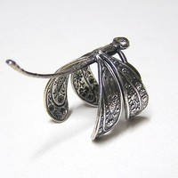Victorian Dragonfly Ring ADORABLE wings wraps by chinookhugs