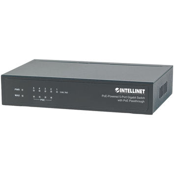 Intellinet Poe-powered 5-port Gigabit Switch With Poe Passthrough