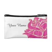 Studded Rose Cosmetic Bag