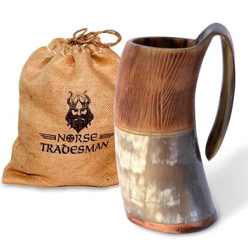 "Viking Drinking Horn Tankard | ""The Jarl"""