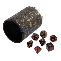 7X Polyhedral Dice Game for Dungeons and Dragons D20 D12 D10 D8 D6 +Dice Cup