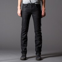 [Dstld Slim] Slim Raw Jeans in Black