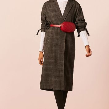 Vented Longline Plaid Jacket