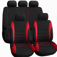 5 Styles for Choice 11pcs/set Universal Full Seat Car Seat Cover Covers Mat Cushion Protector Pad Car Care Black/Red/Blue/Gray