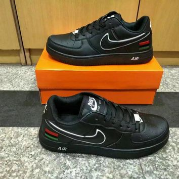"""""""Nike Air Force 1"""" Unisex Sport Casual Multicolor National Flag Low Help Shoes Sneaker"""