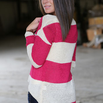 Fuchsia + Stripes Knit
