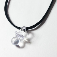 Clear Pacifier Necklace