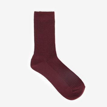 Comfortable yours for life daily socks - Burgundy