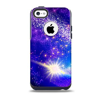 The Glowing Pink & Blue Comet Skin for the iPhone 5c OtterBox Commuter Case