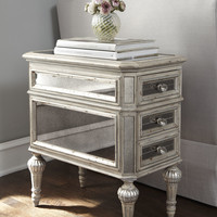 Dresden Mirrored Side Table - Neiman Marcus