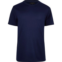 River Island MensDark blue techy t-shirt