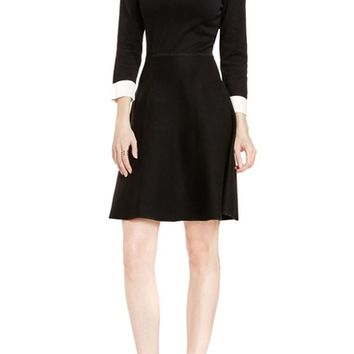 Vince Camuto Fit & Flare Sweater Dress (Regular & Petite) | Nordstrom