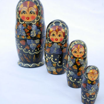 Vintage Russian Nesting Doll by LonestarVintageFinds on Etsy