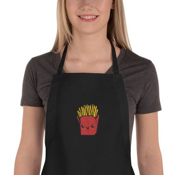 Mr. Fries Embroidered Apron
