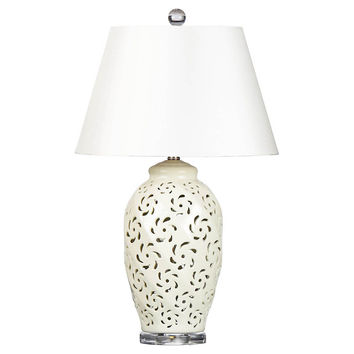 Trellis Table Lamp, Alabaster, Table Lamps