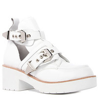 Jeffrey Campbell Boot Leather Coltrane in White