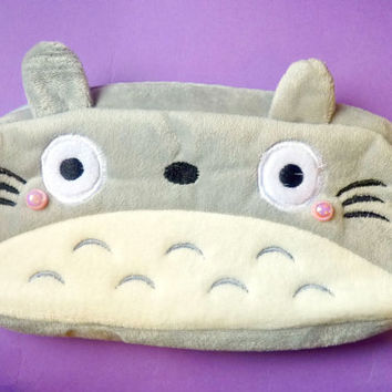 Totoro Pencil Case / Cosmetic Bag Soft Plush Purse
