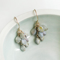 gretel earrings in mottled tones