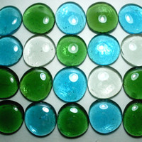 Craft Supplies Lot of 20 Flat Backed Glass Embellishments For Terrariums Aquariums Stepping Stones Gardening Craft Supplies