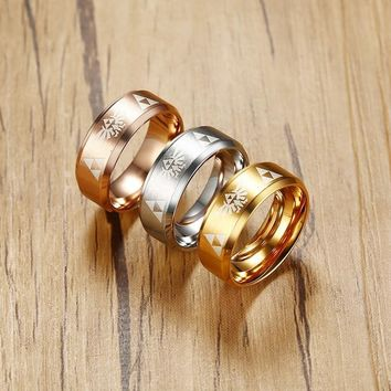 Vnox The Legend of Zelda Men Rings Stainless Steel Game Party Ceremony Party Jewelry Bestfriend Gift