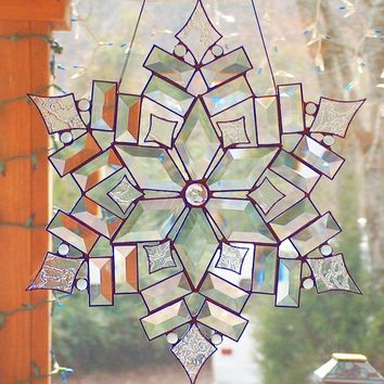 Stained Glass Star / Snowflake - The Stars of Today 2 Suncatcher