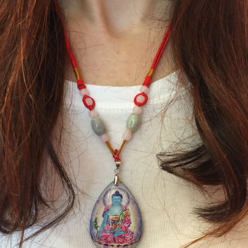 Medicine Buddha Pendant Necklace