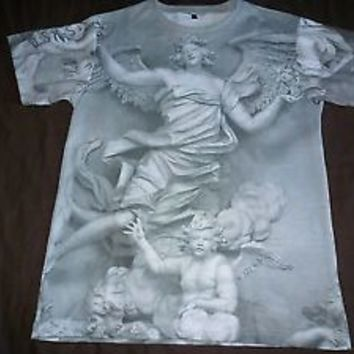 IC Story Grey Greek Mythology Statue T-Shirt Kanye West APC Givenchy Pyrex HBA