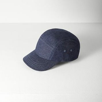 Rag & Bone - 5 Panel Hat, Indigo Size 1
