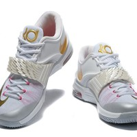 "2017  Nike Zoom  Kevin Durant 7 Ⅶ ""Breast Cancer"" Basketball Shoes"