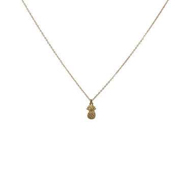 Pineapple Charm Thin Necklace