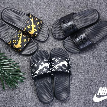 Nike Benassi Print X LV LouisVuitton Summer Fashion Sandal Slippers - Best Deal Online
