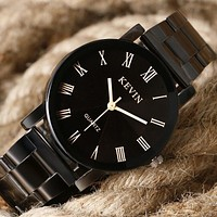Stainless Steel Analog Men's Quartz Watch Business Watch Men Watch