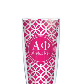Alpha Phi Tumbler -- Customize with your monogram or name!