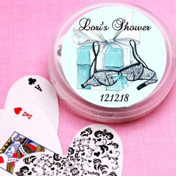 12 Lingerie Bridal Shower and Wedding Deck of Cards Favors