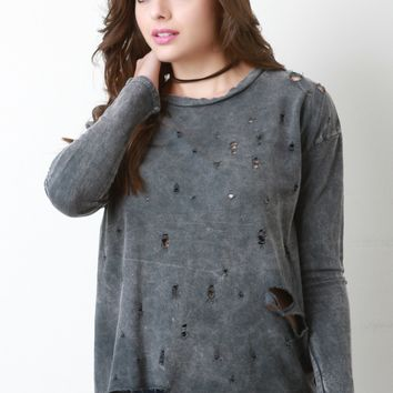 Vintage Grunge Distressed Sweater