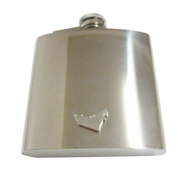 United Arab Emirates UAE Map Shape and Flag Design 6 Oz. Stainless Steel Flask