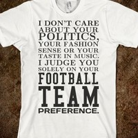FOOTBALL TEAM PREFERENCE TEE T SHIRT