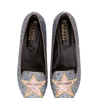 CHIARA FERRAGNI - 10MM HOLLYWOOD STAR GLITTER LOAFERS - LUISAVIAROMA - LUXURY SHOPPING WORLDWIDE SHIPPING - FLORENCE