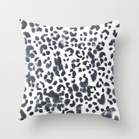 Leopard Abstract Throw Pillow by THE AESTATE