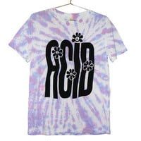 Killer Condo — Stretched Out Acid Rave T-shirt | Black on Tie Dye