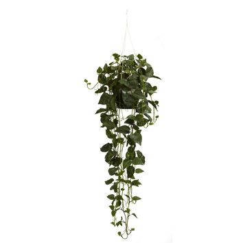 Artificial Plant -Philodendron Hanging Basket Silk Plant